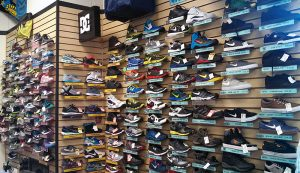 Our wall of shoes