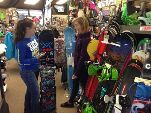 Our friendly snowboard sales team at Sportsmen's Den!